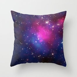 Dark Matter and Galaxies in a Cluster Throw Pillow
