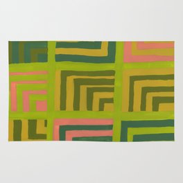 Painted Color Block Squares Rug