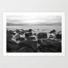 Still Rocks Art Print