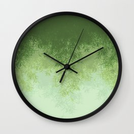 Willow (Green) Wall Clock