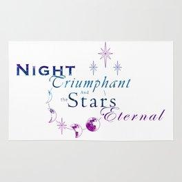 Night Triumphant - Stars Eternal (white) Rug