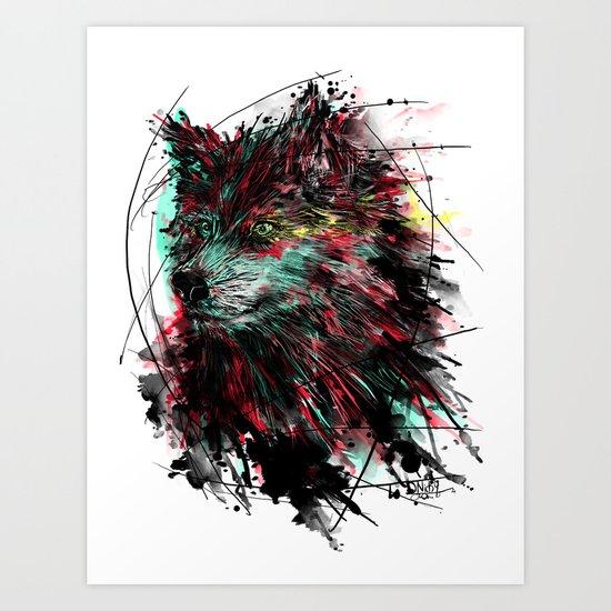 N WOlfie Art Print