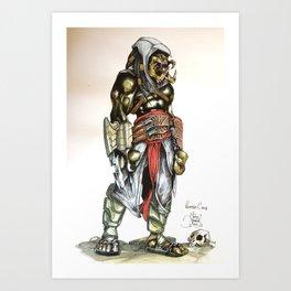 predators creed Art Print