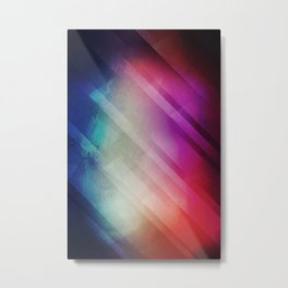 Vivid - Colorful Geometric Mountains Texture Pattern Metal Print