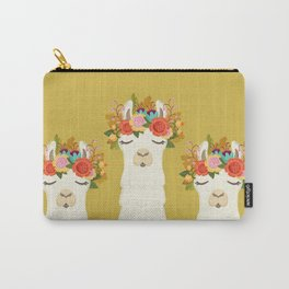 LLama Flowers Carry-All Pouch