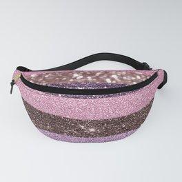 Modern abstract geometric blush tones glitter Fanny Pack
