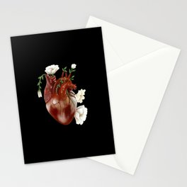 Blossoming heart Stationery Cards