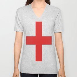 Red Cross of St George Isolated Unisex V-Neck