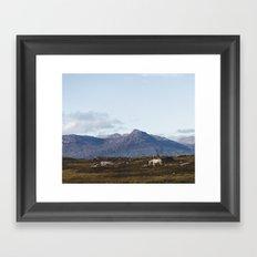 Connemara  - Horse and Mountains Framed Art Print