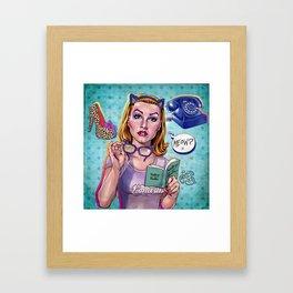 Meow? Framed Art Print