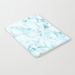 Aqua marine and white faux marble Notebook