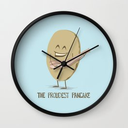 The Proudest Pancake Wall Clock