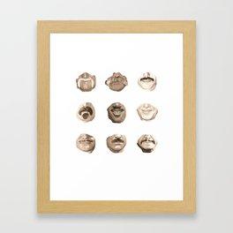 Moustaches Framed Art Print