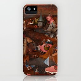"Hieronymus Bosch ""The Last Judgment"" triptych (Bruges) cental panel iPhone Case"