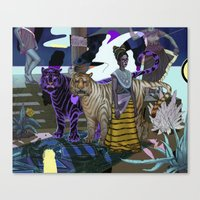 "entourage Canvas Prints featuring ""Entourage"" by Cam Floyd Illustration"