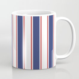 Nautical Red and Blue Stripes 2 Coffee Mug
