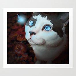 Fairy and Cat Art Print