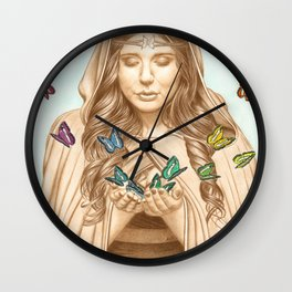 The Butterfly Girl Wall Clock