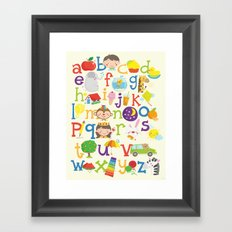 Wedgienet's Alphabet Framed Art Print