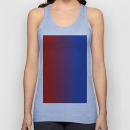Ombre in Red Blue Unisex Tank Top