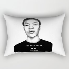My skin color is not a crime Rectangular Pillow