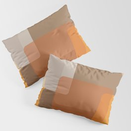 Abstract rectangles in autumn shades Pillow Sham