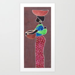 Black Mother And Child Art Print