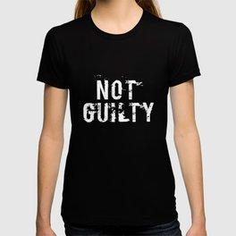 Not Guilty T-Shirt Funny Distressed Jail Prisoner Inmate Tee T-shirt