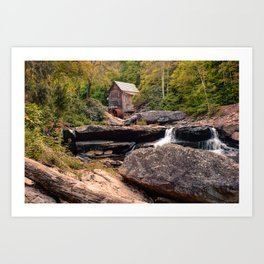 Tucked Away - Historic Old Mill Photography Art Print