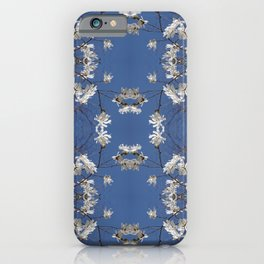 Star-filled sky (Star Magnolia flowers!) - diamond repeating pattern iPhone Case