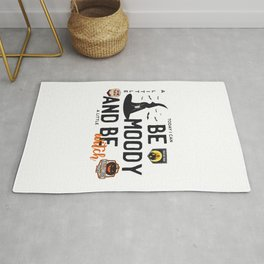 Today I can be moody and be a little witch - trick or treat - say boo and scary on - Halloween hand drawn quotes illustration. Funny humor. Life sayings. Spooky funny quotes. Rug