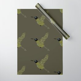 Abstract Hummingbird Wrapping Paper