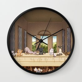 The Cats' Supper Wall Clock