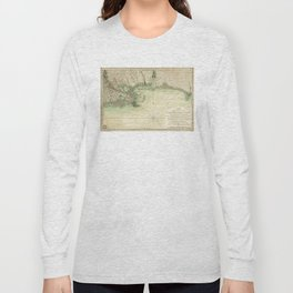 Map of Louisiana and Florida Gulf Coast (1778) Long Sleeve T-shirt