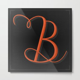 The Letter B Metal Print