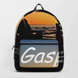 Gaspésie Chairs at Sunset, mask edition Backpack