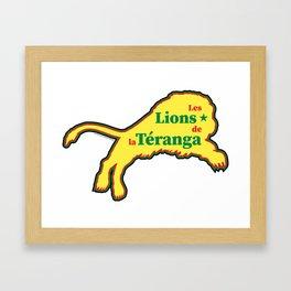 Senegal Les Lions de la Téranga (The Lions of Teranga) ~Group H~ Framed Art Print