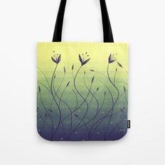 Purple Algae Plants In Green Water Tote Bag