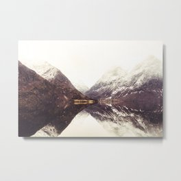 Fjord Reflection Metal Print