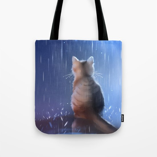 under rainy days like these Tote Bag