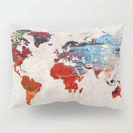 World Map 60 Pillow Sham