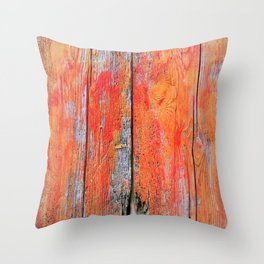 Weathered Wood Shutter rustic decor Throw Pillow