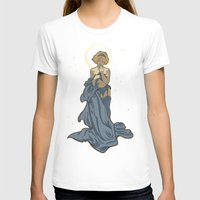 mucha T-shirts featuring Mucha Pin Up Girl by Karen Hallion Illustrations