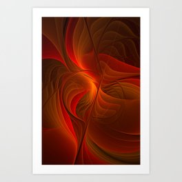 Warmth, Abstract Fractal Art Art Print