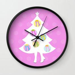 Christmas Tree #3 Wall Clock