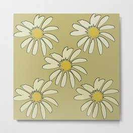 All About Daisies Metal Print