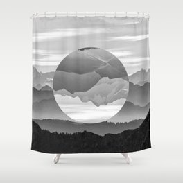 Geo Nature Mountains Shower Curtain