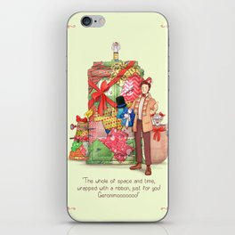 The best present in all of space and time iPhone Skin
