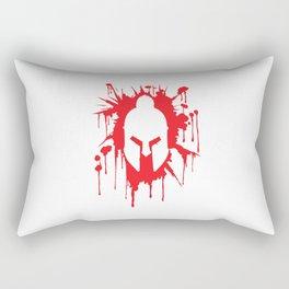 Spartan Helmet in Bloodstain | Warrior Workout Rectangular Pillow
