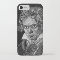 beethoven iPhone & iPod Cases featuring Beethoven by Sean Villegas